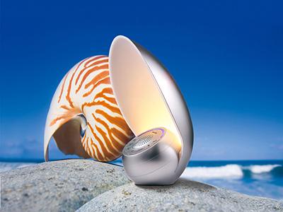 轻生活语音交互模组案例-SL3204小海螺语音交互台灯蓝牙音箱
