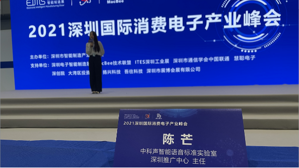 语音控制技术成深圳消费电子产业峰会热门话题